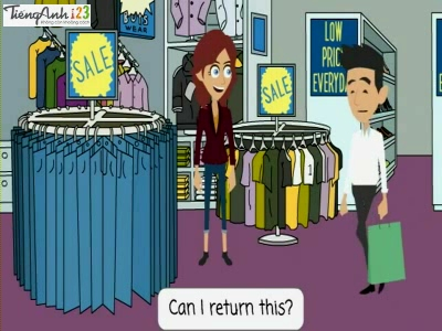 Bài 96: Returning a shirt to the store